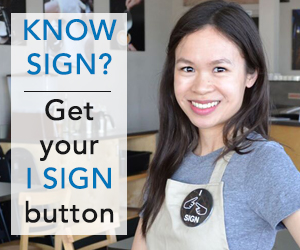 I SIGN Button