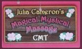 Julia Cameron's Magical Mystical Massage logo in pink